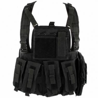 gilet chest rig black noir defcon5 d5-rc901 b