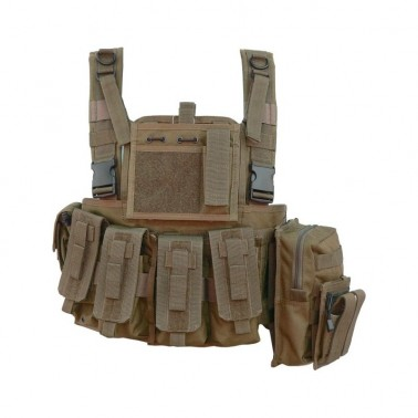 gilet chest rig tan defcon5 d5-rc901 t