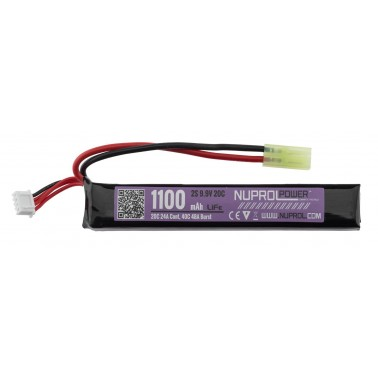 batterie life 9.9v 1100mah 20c slim stick nuprol we 8100