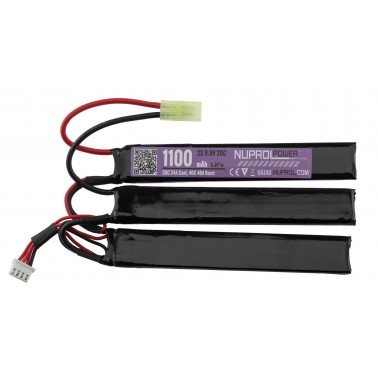 batterie life 9.9v 1100mah 20c 3mini sticks plats nuprol we 8101