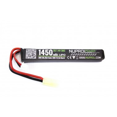 batterie lipo 7.4v / 1450mah 30c stick we nuprol a63240 8053