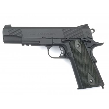 colt 1911 rail gun blackened  noir metal co2 180524