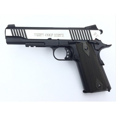 colt 1911 rail gun dual tone bicolor metal co2 180525