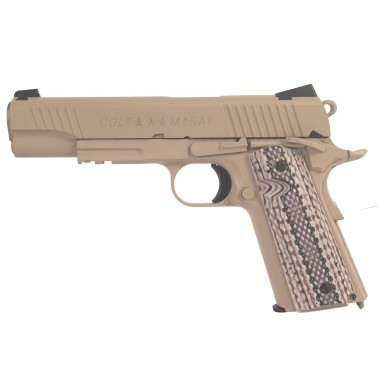 colt 1911 rail gun co2 inox tan