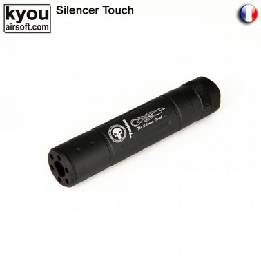 silencieux m8 noir punisher diam 35 long 145mm 14neg