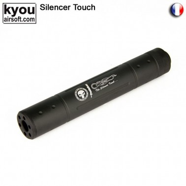 silencieux m8 noir punisher diam 35mm long 195mm 14neg
