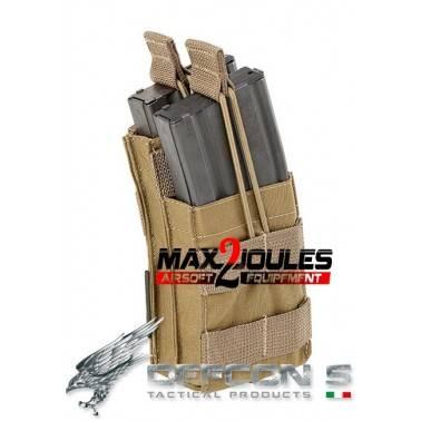poche chargeur double tan defcon5 cordura 500 d5-m4os/2 tan