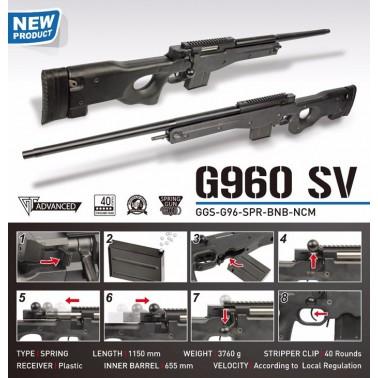 snipe l96 g960 sv spring g&g spr-960-snp-bnb-ncm