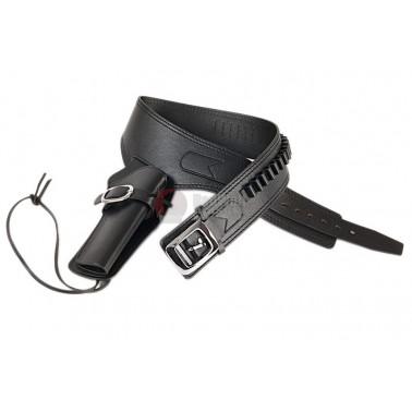 ceinture cowboy + holster cuire noir