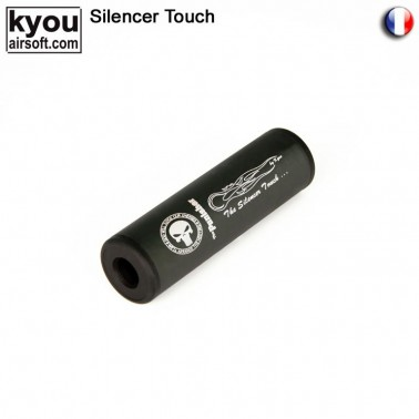 silencieux m6 noir punisher 110mm d30mm 14mm + -