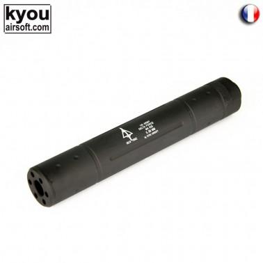 silencieux m8 noir gravage delta force diam 35 long 195mm