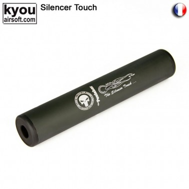 silencieux m6 noir punisher d35mm l:195mm + -