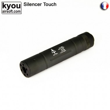 silencieux m8 noir delta force diam 35 long 145mm 14neg