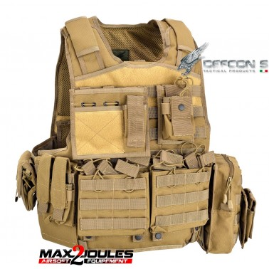 gilet armour carrier tan defcon5 d5-bav06 t