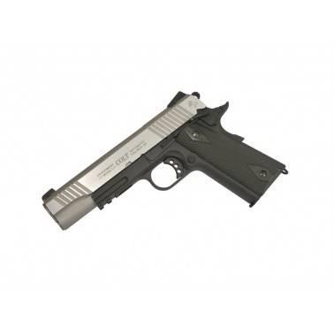 colt 1911 rail gun bicolor plaquette bois fonce metal co2 180531