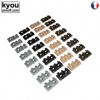 lot de 32 couvres rails modulables noir od tan gr