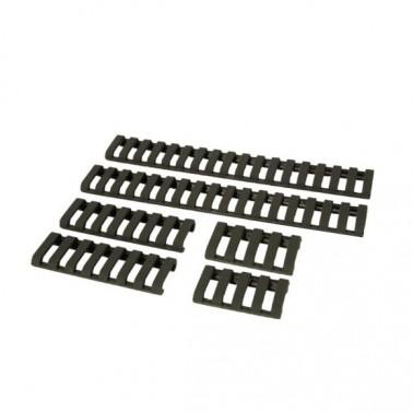 couvre rail noir lot de 6 pieces