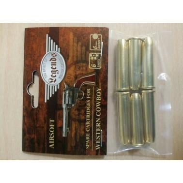 cartouches douilles 6mm 26325 pour revolver legends western
