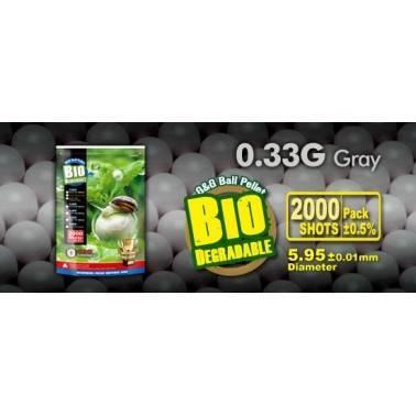 sac 2000 bb's g&g bio 0.33g couleur gris