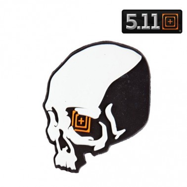 patch pvc 5.11 skull shot black