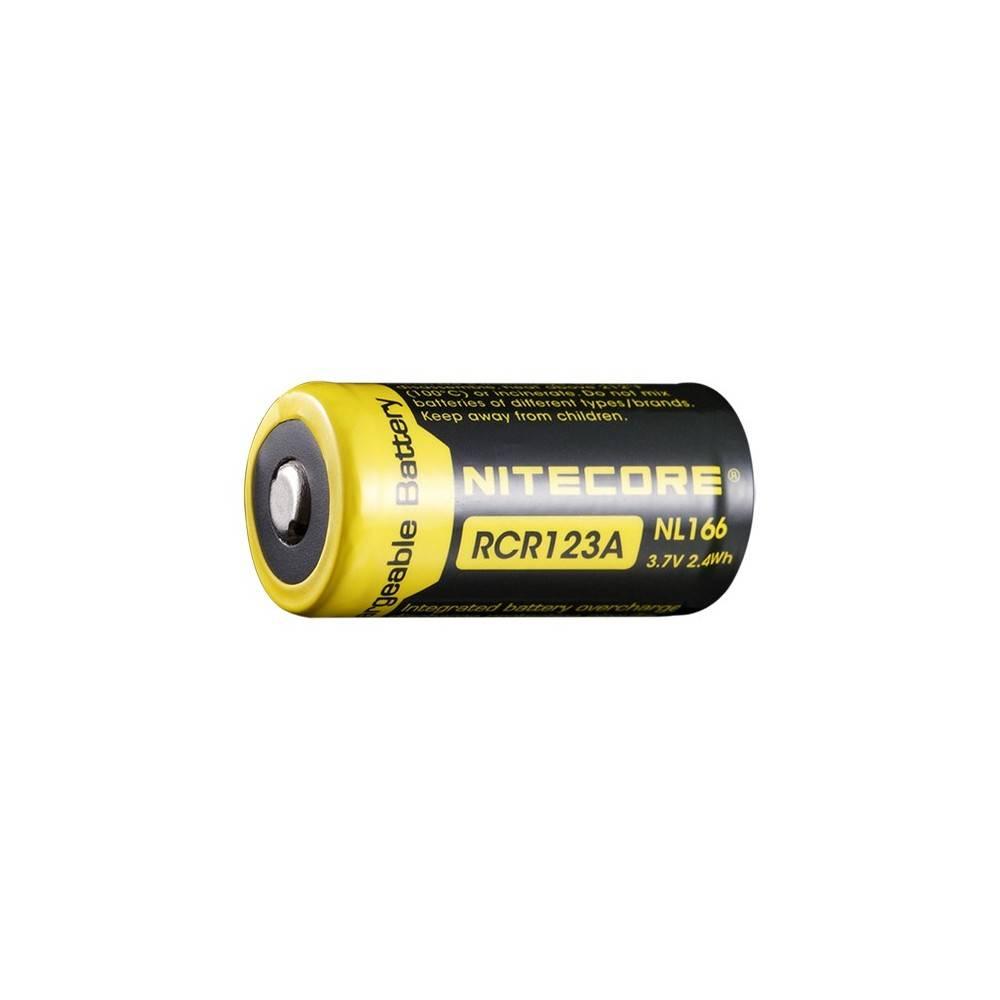 accus nitecore  li-ion rcr123A 650mah 3.7v 2.4wh rechargeable