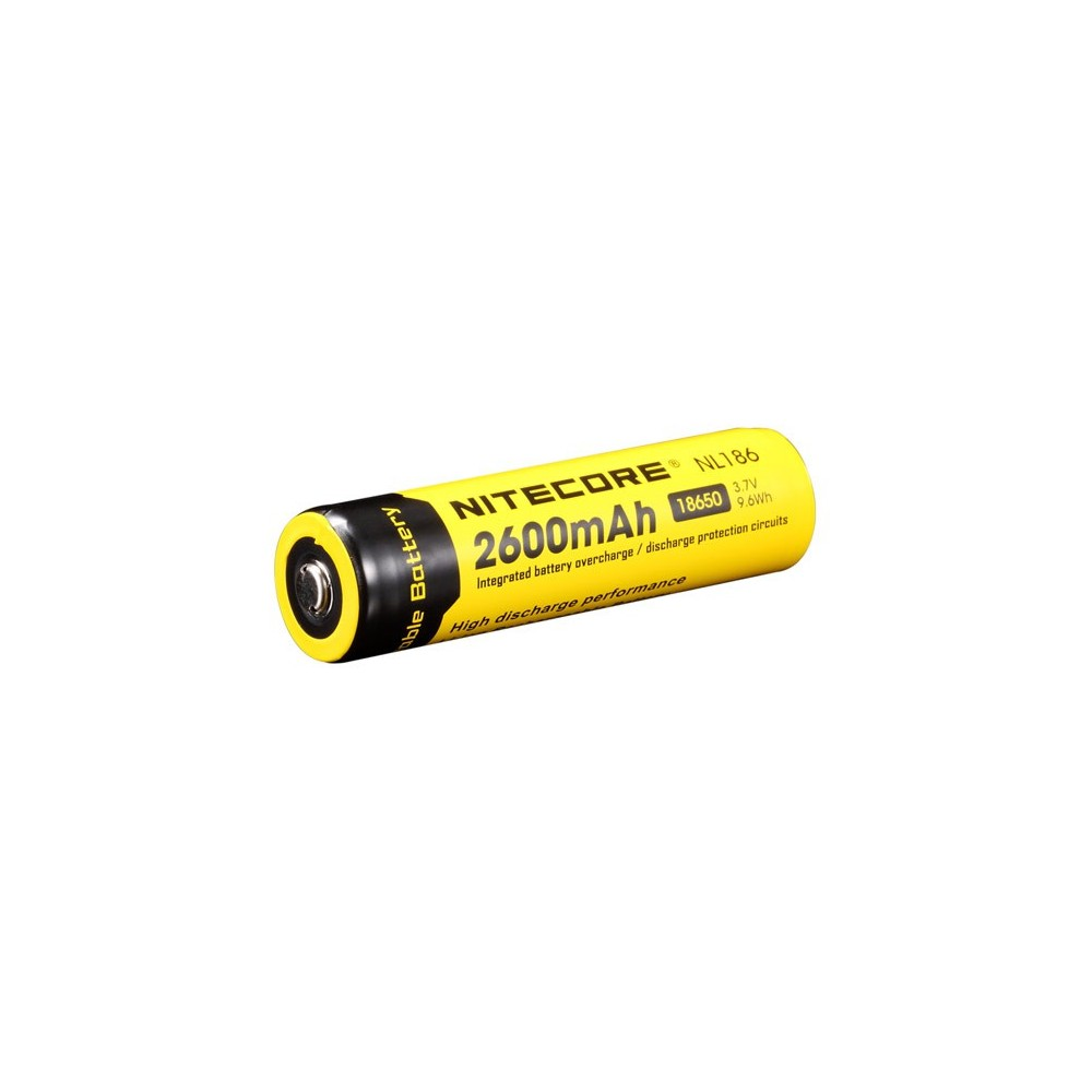 accus rechargeable 18650 2600mah 3.7v 9.6wh nitecore