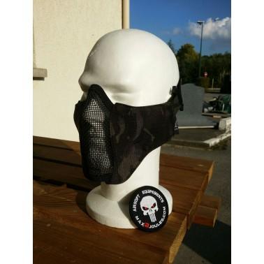 demi masque grillage TMC multicam black+ insert mousse