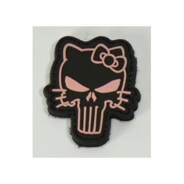 patch pvc hello punisher noir et rose