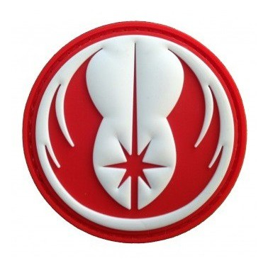 patch pvc ordre du jedi rouge
