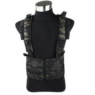 gilet sniper TMC chest rack multicam black
