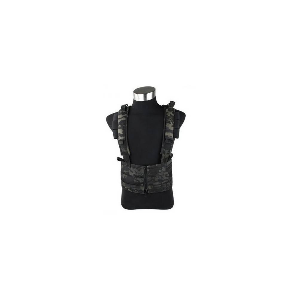 gilet sniper TMC chest rack multicam black