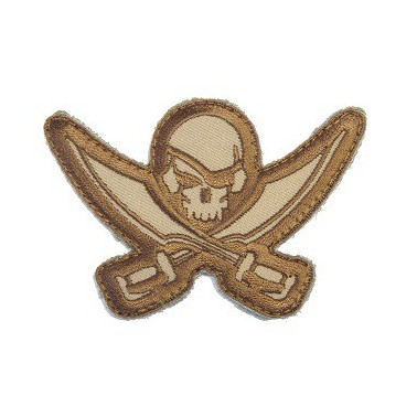 patch msm pirate skull decoupe desert