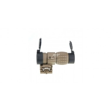 magnifier x3 tan basculant qd flip to slide st44061