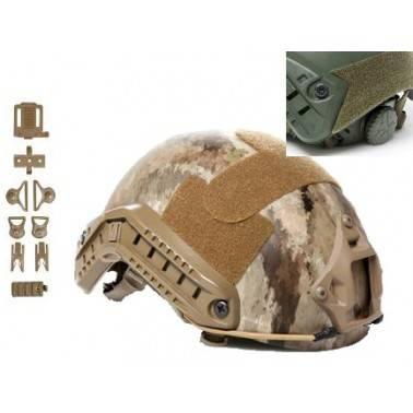 casque fast helmet A-tacs strike helmet asg + accessoires 18386