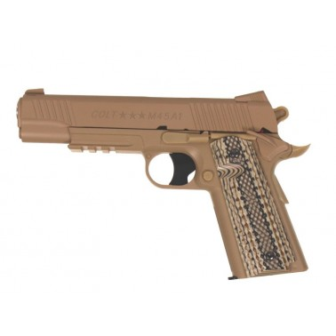 colt 1911 m45a1 rail gun tan culasse fixe 180313