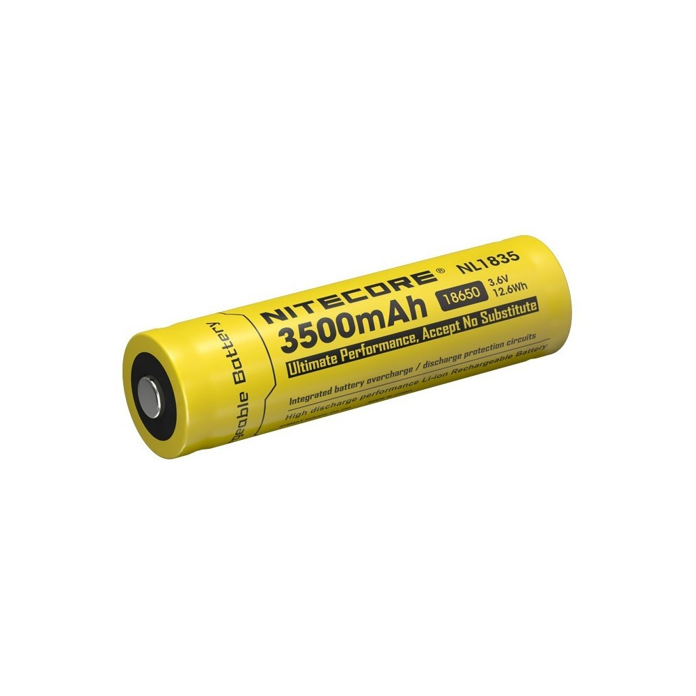 accus rechargeable 18650 3500mah 3.6v 12.6wh nitecore