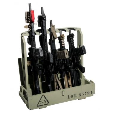 ratelier pliant et portatif pour repliques airsoft et armes