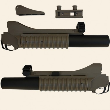 lance grenade m203 s&t tan long