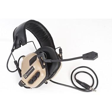 casque tactique earmor ear-muff de tan m32-de