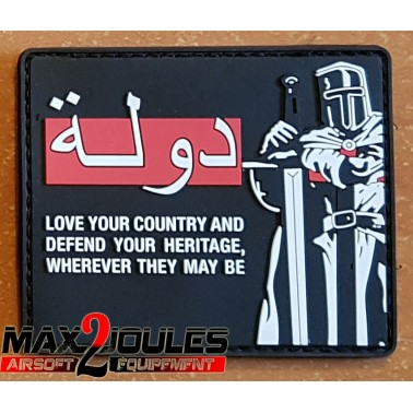 patch cruzader love your country