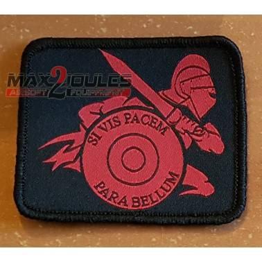 patch gladiateur noir et rouge