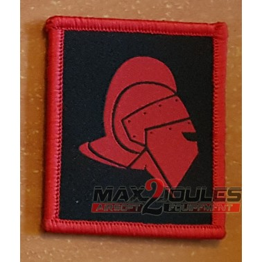 patch casque gladiateur secutor rouge fond noir