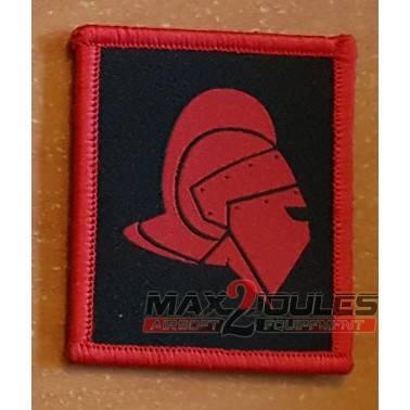 patch casque gladiateur secutor rouge fond noir