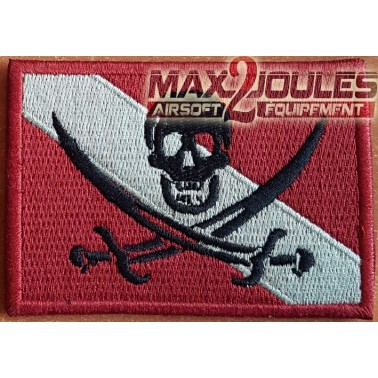 patch velcro drapeau pirate rouge
