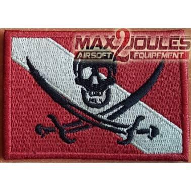 patch velcro drapeau pirate rouge