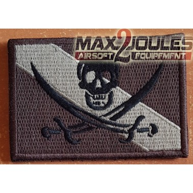 patch velcro drapeau pirate brun