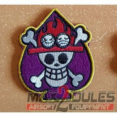 patch velcro one piece ace spade as de pique violet