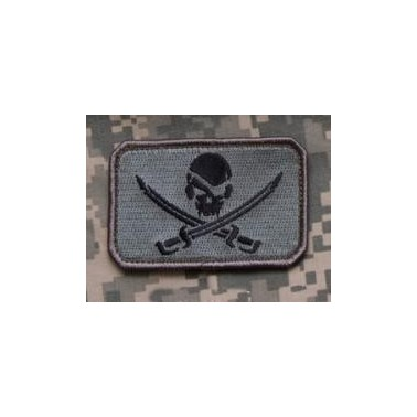 patch velcro msm pirate skull flag acu