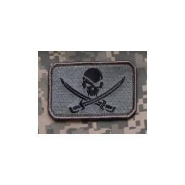 patch velcro msm pirate skull flag acu