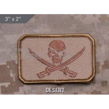 patch velcro msm pirate skull flag desert